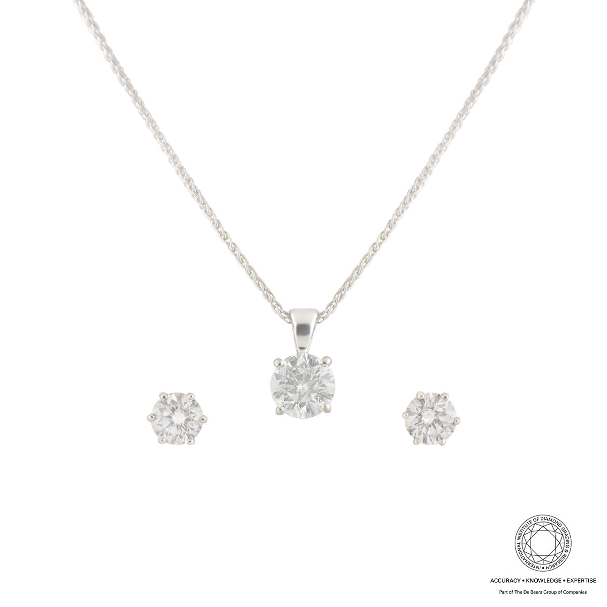 White Gold Diamond Jewellery Suite